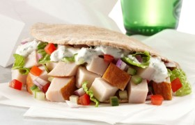 Greek Turkey Pita with Tzatziki Sauce