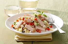 Mediterranean Turkey and Orzo Salad