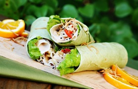 Asian Teriyaki Turkey Wrap