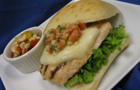 Chicken Bruschetta Sandwich