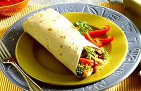 Ground Turkey and Spinach Wrap