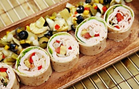 Healthy Low Salt Turkey Breast Wrap