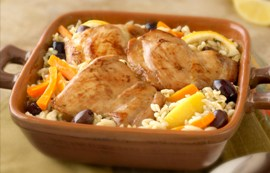 One-Pan Lemon Chicken and Orzo
