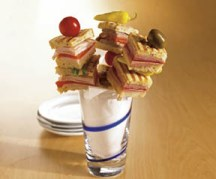 Mini Panini Stacked Skewers