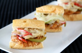 Philly Chicken Sliders