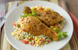 Easy Chicken and Brown Rice