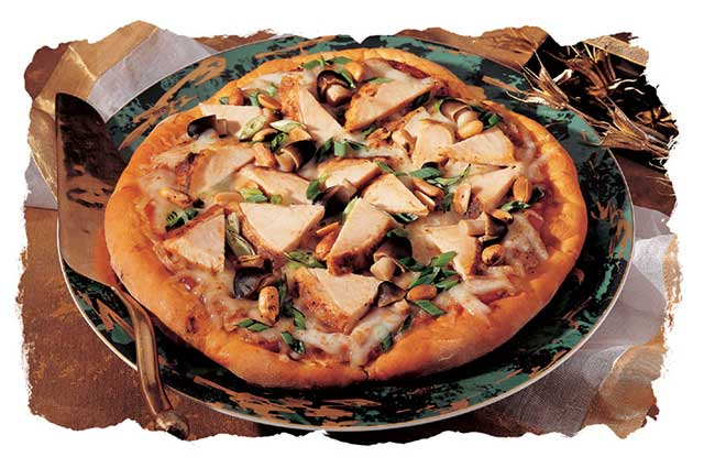 Thai Turkey Pizza