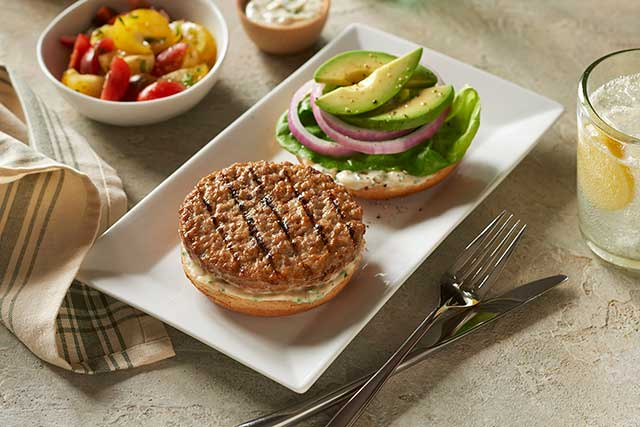 Avocado and Aioli Turkey Burger