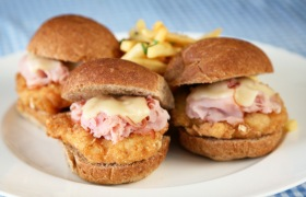 Chicken Slider Cordon Bleu