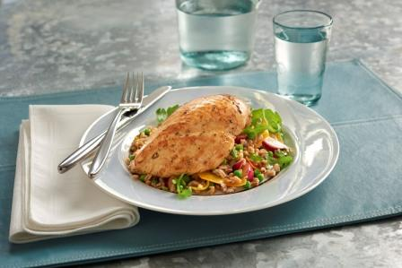 HARVESTLAND® Organic Chicken Breast with a Warm Spring Bulgur Salad