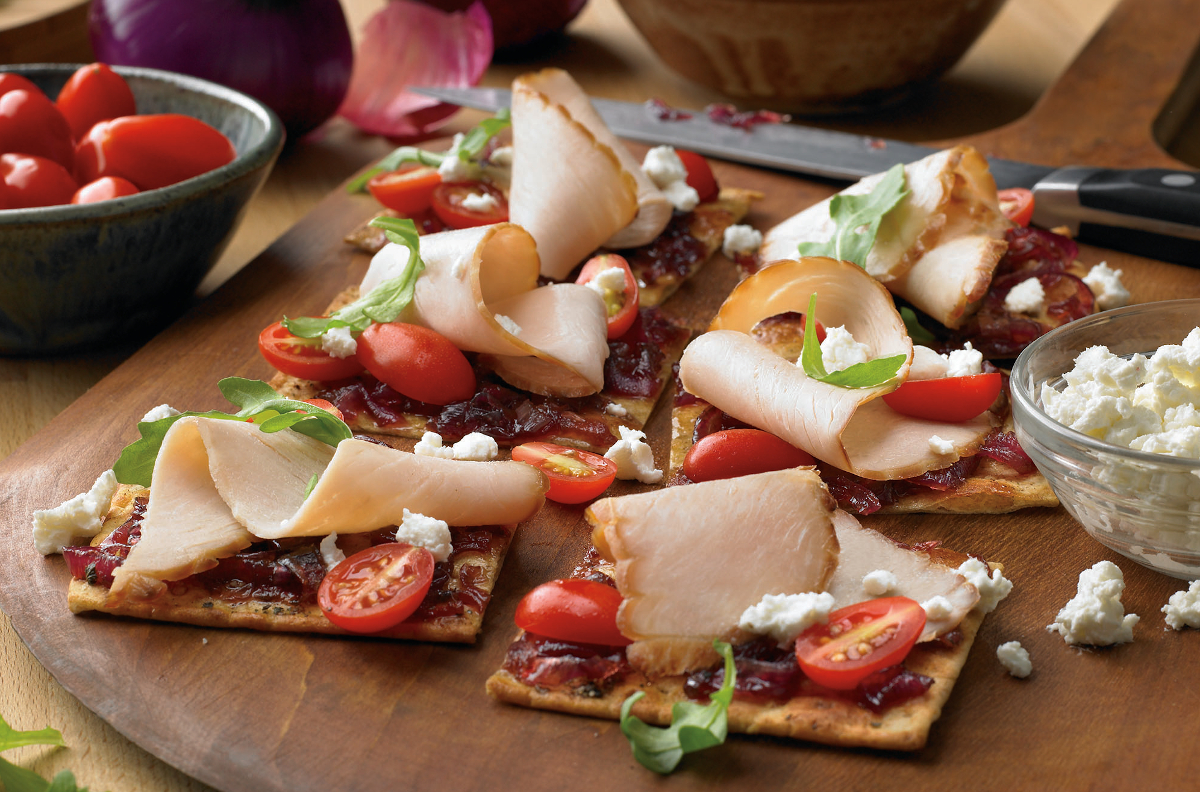 HARVESTLAND® Turkey Flatbreads with Bacon Jam