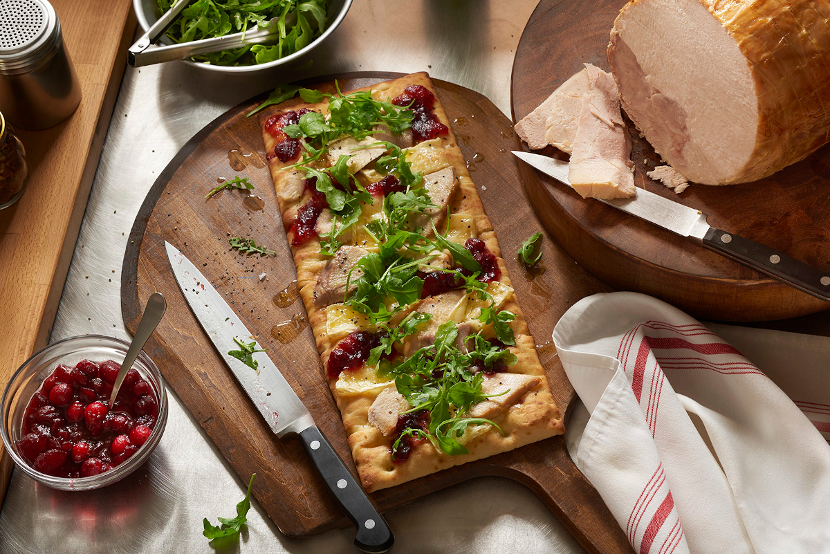 Roasted Turkey and Brie Flatbread