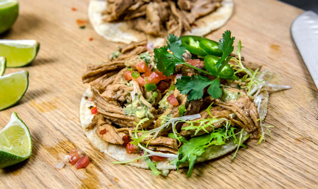 Pan-Fried Turkey Tostada